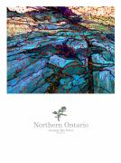 Canadian Mixed Media Prints - Northern Ontario Poster Series Print by Bob Salo