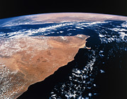 Northern Africa Framed Prints - Northern Somalia & Gulf Of Aden From Space Sts-55 Framed Print by Nasa
