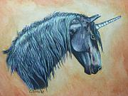 Unicorn Paintings - Northern Unicorn by Connie Owens