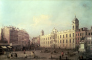 Charing Cross Framed Prints - Northumberland House Framed Print by Canaletto