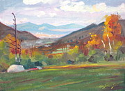 Berkshires Paintings - Northward by Len Stomski