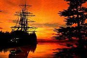 Sailing Ships Prints - Northwest Anchorage Print by Timothy McPherson