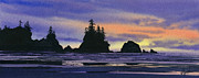 Seashore Fine Art Print Posters - Northwest Coast Headlands Poster by James Williamson