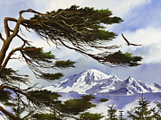 Landscape Greeting Card Painting Originals - Northwest Majesty by James Williamson