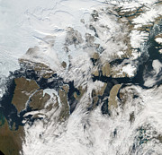 Satellite Image Posters - Northwest Passage Poster by Nasa