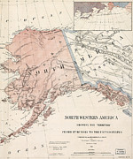Historical Document Posters - Northwestern America Showing Poster by Everett