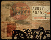 Vintage Digital Art Metal Prints - Norton Metal Print by Cinema Photography