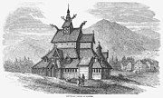 12th Framed Prints - Norway: Borgund Church Framed Print by Granger