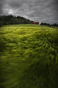 Green-field Framed Prints - Norwegian Wave Framed Print by Andy Astbury