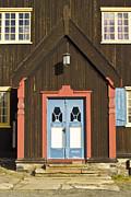Norwegian Wooden Facade Print by Heiko Koehrer-Wagner