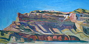 Diebenkorn Paintings - Noserock Afternoon Sun Superman Canyon New Mexico by Chris  Easley
