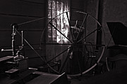 Spinning Wheel Prints - Nostalgia in Calico Ghost Town Print by Susanne Van Hulst