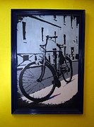 Vintage Bike Painting Originals - Nostalgia by We Did It