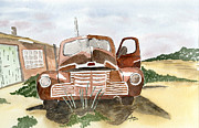 Truck Drawings Framed Prints - Nostalgic Framed Print by Eva Ason