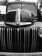 Old Ford Prints - Nostalgic Rusty Old Ford Truck . 7D10281 . black and white Print by Wingsdomain Art and Photography
