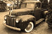 Old Trucks Photos - Nostalgic Rusty Old Truck . sepia . 7D10270 by Wingsdomain Art and Photography