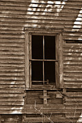 West Fork Framed Prints - Nostalgic Window Framed Print by Douglas Barnett
