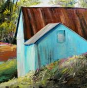 Portfolio Paintings - Not All Barns are Red by John  Williams