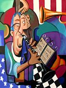 Artist Mixed Media - Not blowing Your Own Horn by Anthony Falbo