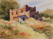 Adobe Painting Prints - Not Far From Espanola Print by Sam Sidders