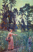 Innocence Child Metal Prints - Not Far to Go Metal Print by Frederick Morgan
