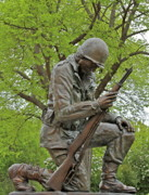 Korean War Memorial Photos - Not Forgotten by Rick  Monyahan