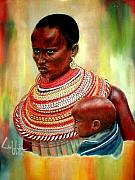 Maasai Painting Originals - Not My Son by G Cuffia