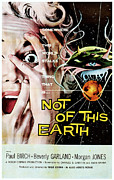 1957 Movies Prints - Not Of This Earth, Beverly Garland Print by Everett
