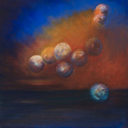 Sphere Paintings - Not Pear Shaped by LAF Art