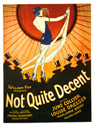 1920s Posters - Not Quite Decent, June Collyer, 1929 Poster by Everett