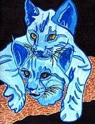 Wild Cats Paintings - Not So Tame As We Look by Connie Valasco