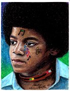 Michael Jackson Pastels Framed Prints - Notes Of Love Framed Print by Cassandra Allsworth
