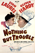 Tasting Framed Prints - Nothing But Trouble, Stan Laurel Framed Print by Everett
