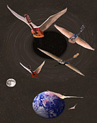 Flying Guitars Digital Art - Nothing Else Matters But Rock by Eric Kempson