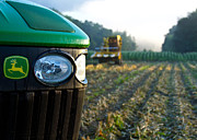 Sweet Corn Picker Framed Prints - Nothing Runs Like a Deere Framed Print by Tim  Fitzwater