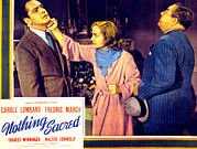 Reverse Art Photo Prints - Nothing Sacred, Fredric March, Carole Print by Everett