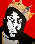 Hiphop Paintings - Notorious Big by Estelle BRETON-MAYA