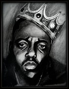 B.i.g. Framed Prints - Notorious B.I.G. Portrait Framed Print by Derek Rickard