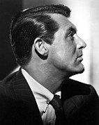 Pinstripe Suit Prints - Notorious, Cary Grant, 1946 Print by Everett