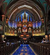 Notre Dame Basilica Montreal City Print by Pierre Leclerc Photography