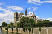 South Of France Prints - Notre Dame Cathedral in Paris Print by Louise Heusinkveld