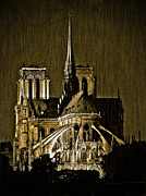 Paris Digital Art Posters - Notre Dame Cathedral Poster by Paul Topp