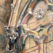 Gargoyle Paintings - Notre Dame by Chris Brandley