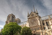 Stained Glass Windows Photos - Notre Dame de Paris by Jennifer Lyon