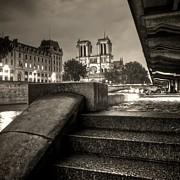 Hdr Look Photo Prints - Notre-Dame de Paris Print by Matthieu Godon