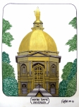 University Campus Drawings Originals - Notre Dame by Frederic Kohli