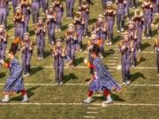 Marching Band Photo Prints - Notre Dame Marching Band Print by David Bearden