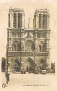 Black And White Paris Posters - Notre Dame  Poster by Nomad Art And  Design