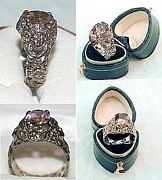 Floral Ring Jewelry - Nouveau lady floral ametrine ring by Michelle  Robison