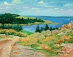 Nova-scotia Prints - Nova Scotia Coast Print by Ethel Vrana